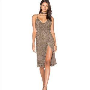 Majorelle Hollyhock wrap dress in Embellishment.